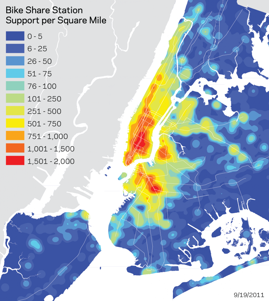NYC bikeshare maps spatial analysis an exploration of techniques