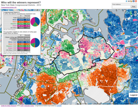 Census Spatiality - Map of ny districts for us congress